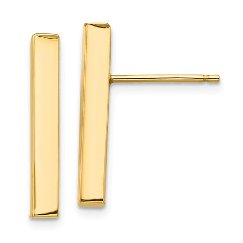 "Initial ""T"" 14k Gold Diamond Stud Earrings"