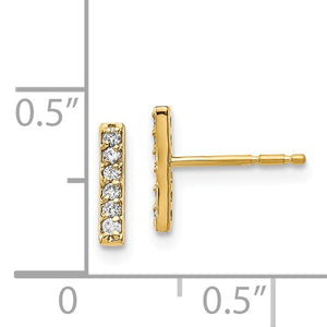 Oui Diamond Earrings - 14K Yellow Gold