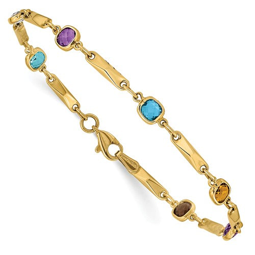 Multi Gemstone Fancy Bracelet