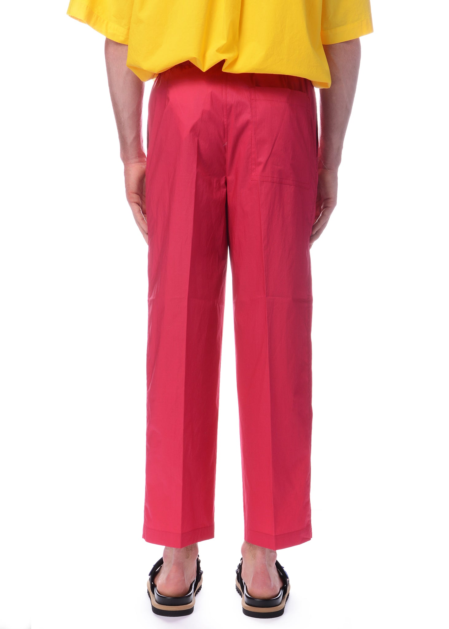 Pantalon en Coton Ample Rose|Pink Relaxed Fit Cotton Pants