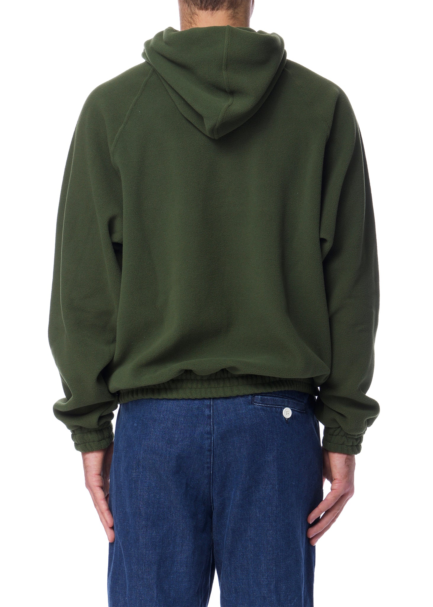 Chandail à Capuche en Polaire Vert|Green Polar Fleece Hoodie