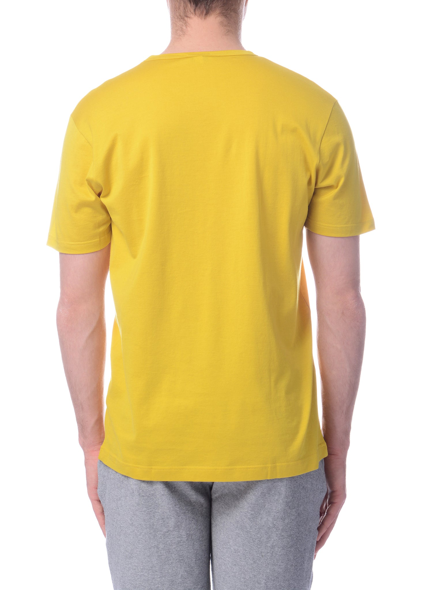T-Shirt Col Rond Jaune|Yellow Crewneck T-Shirt