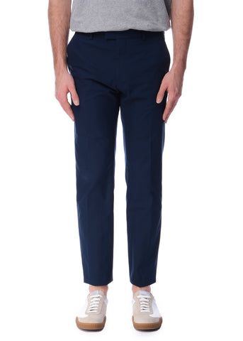 Pantalon en Coton Chino Marine|Navy Cotton Chino Trousers