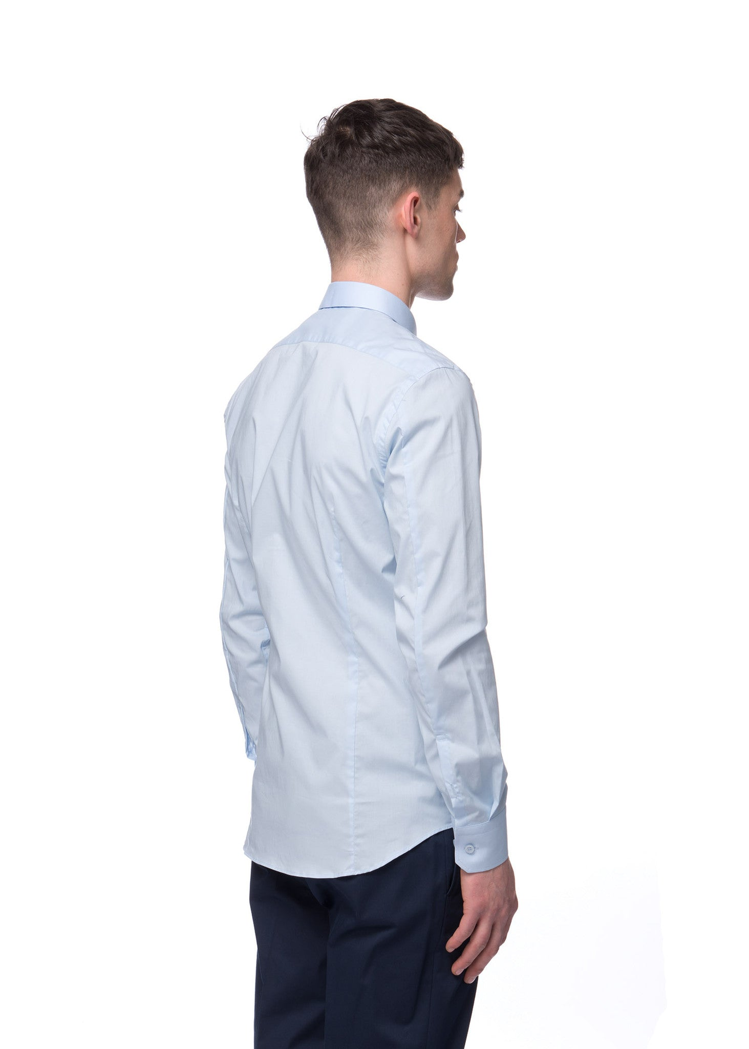 "Chemise bleue Paul ""Cut Away"" en coton