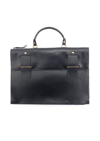 Sac noir en cuir|Black leather bag