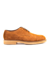 Chaussure brune en nubuck|Brown nubuck shoe