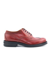 Chaussure rouge brogue|Red brogue shoe