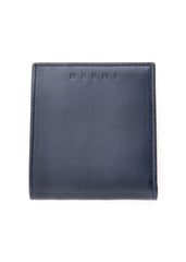 Portefeuille bleu en cuir d'agneau|Blue wallet in calf leather