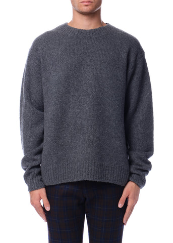 Pull à col rond gris|Grey Crewneck Sweater