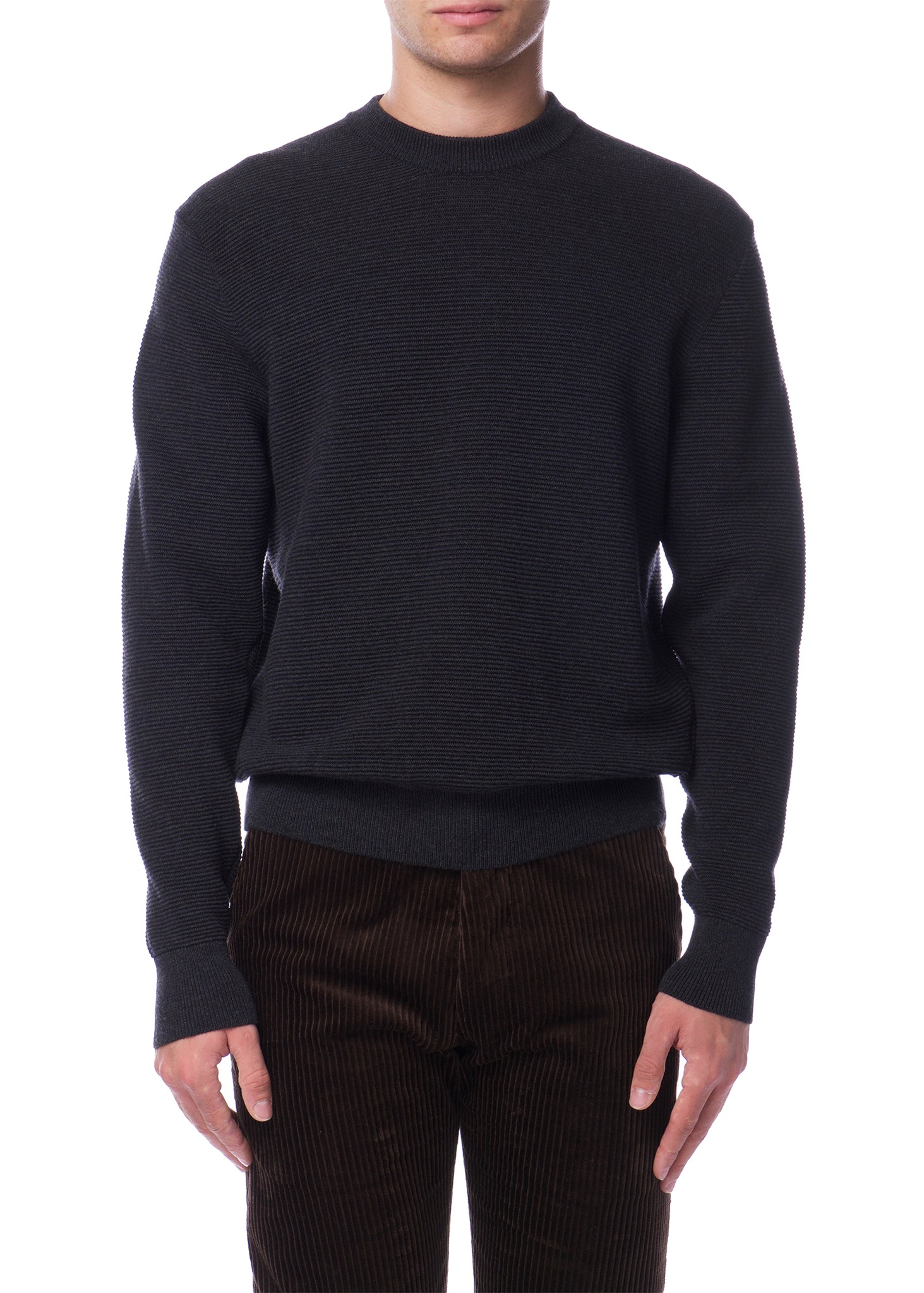 Pull Côtelé Anthracite|Ribbed Anthracite Sweater
