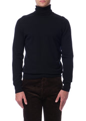 Col Roulé Mince Noir|Black Thin Turtleneck