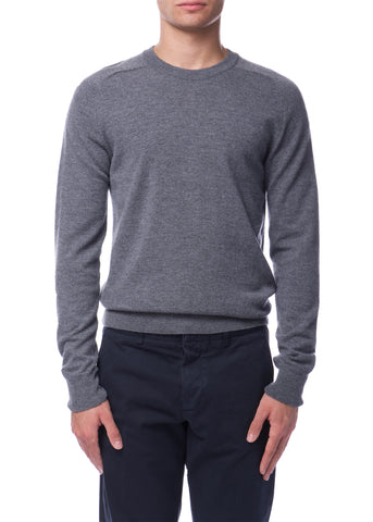 Pull à Col Rond Gris Chiné|Heather Grey Crewneck Sweater