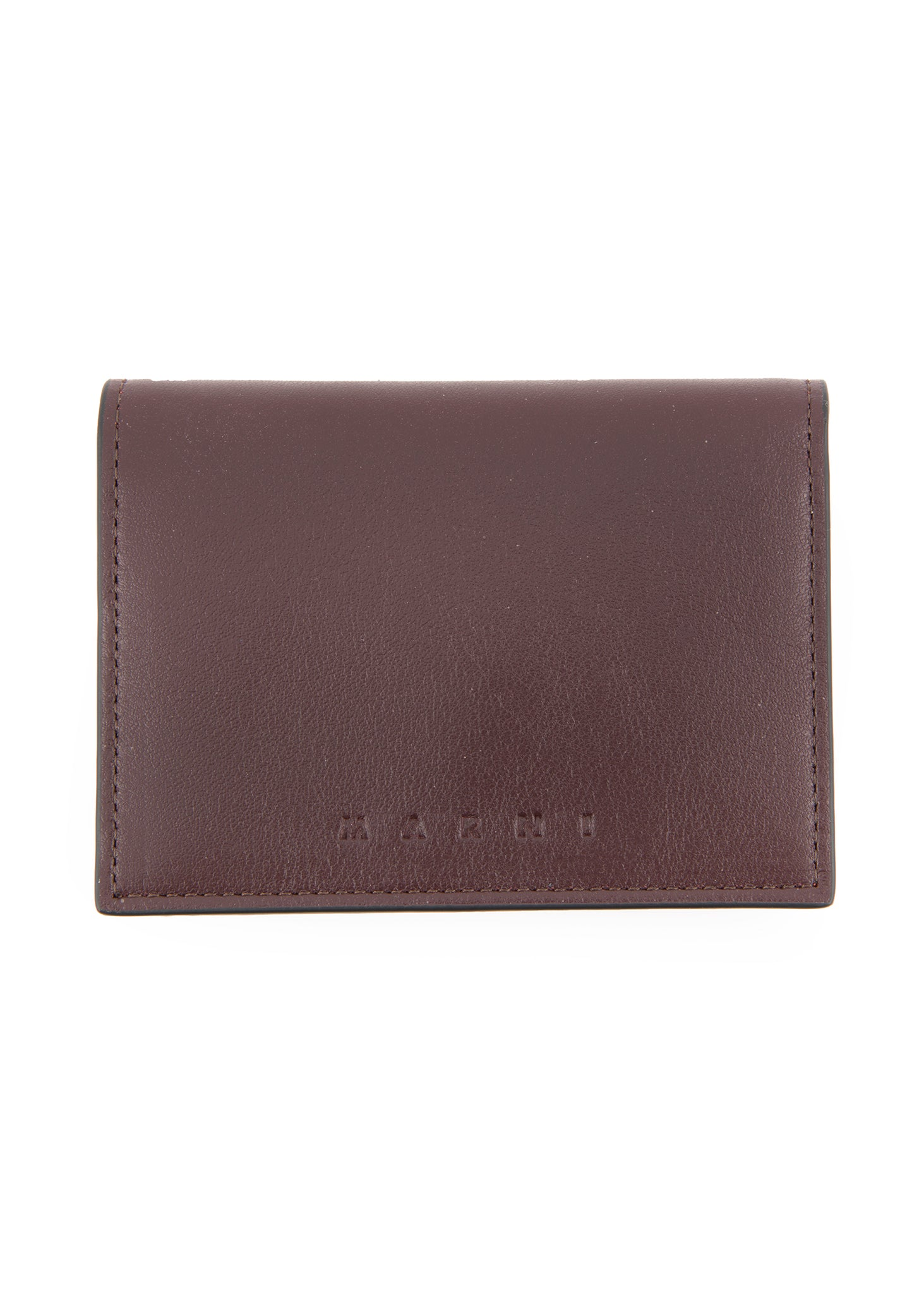 Porte-cartes bourgogne et orange|Orange and burgundy cardholder