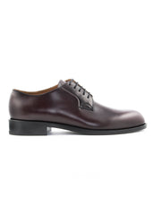 Chaussures bourgognes derby en cuir|Burgundy classic derby leather shoes