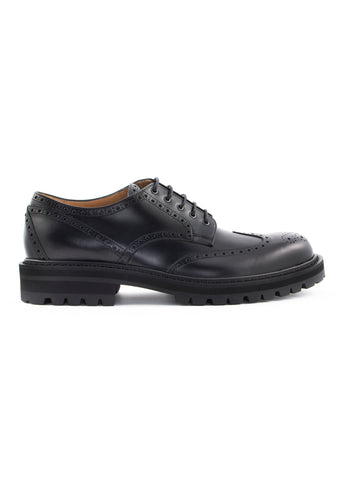 Chaussures noires brogue en cuir|Black brogue leather shoes