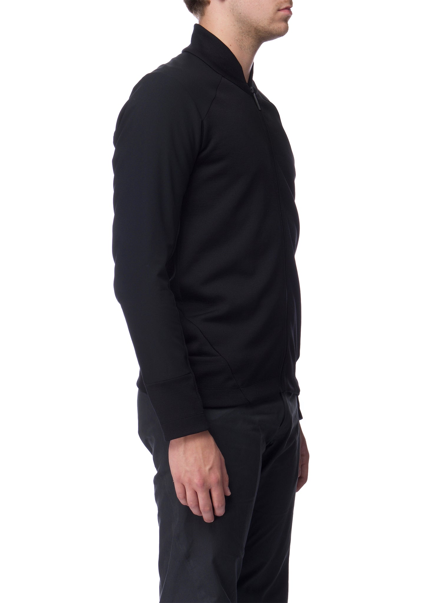 Cardigan noir Graph|Black zip Graph cardigan