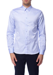 Chemise bleue Pierre en coton|Blue Pierre shirt in cotton