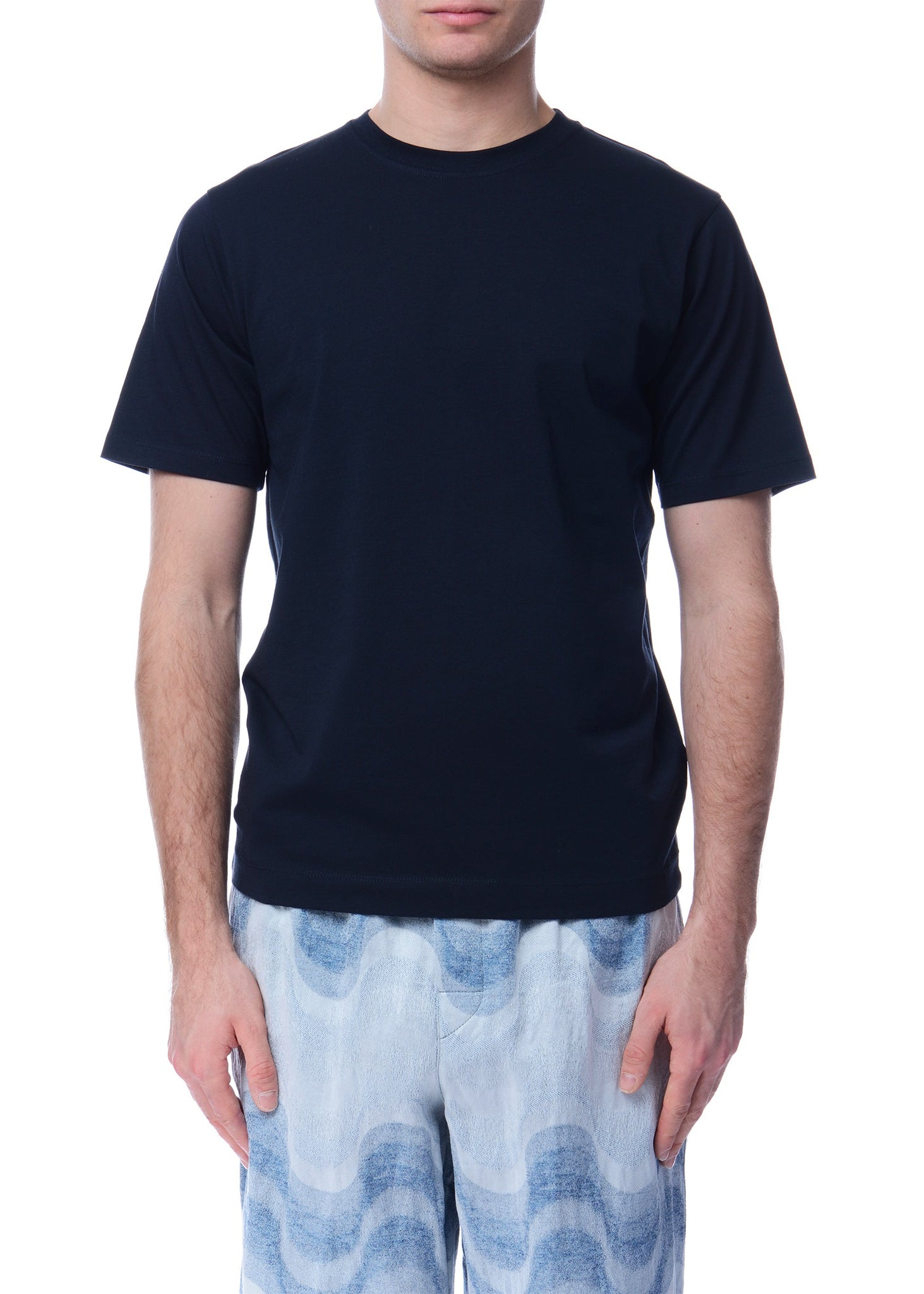 T-Shirt en Coton Marine|Navy Cotton T-shirt