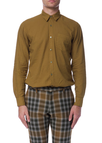 Chemise Décontractée Moutarde|Mustard Casual Button-up Shirt by Dries Van Noten