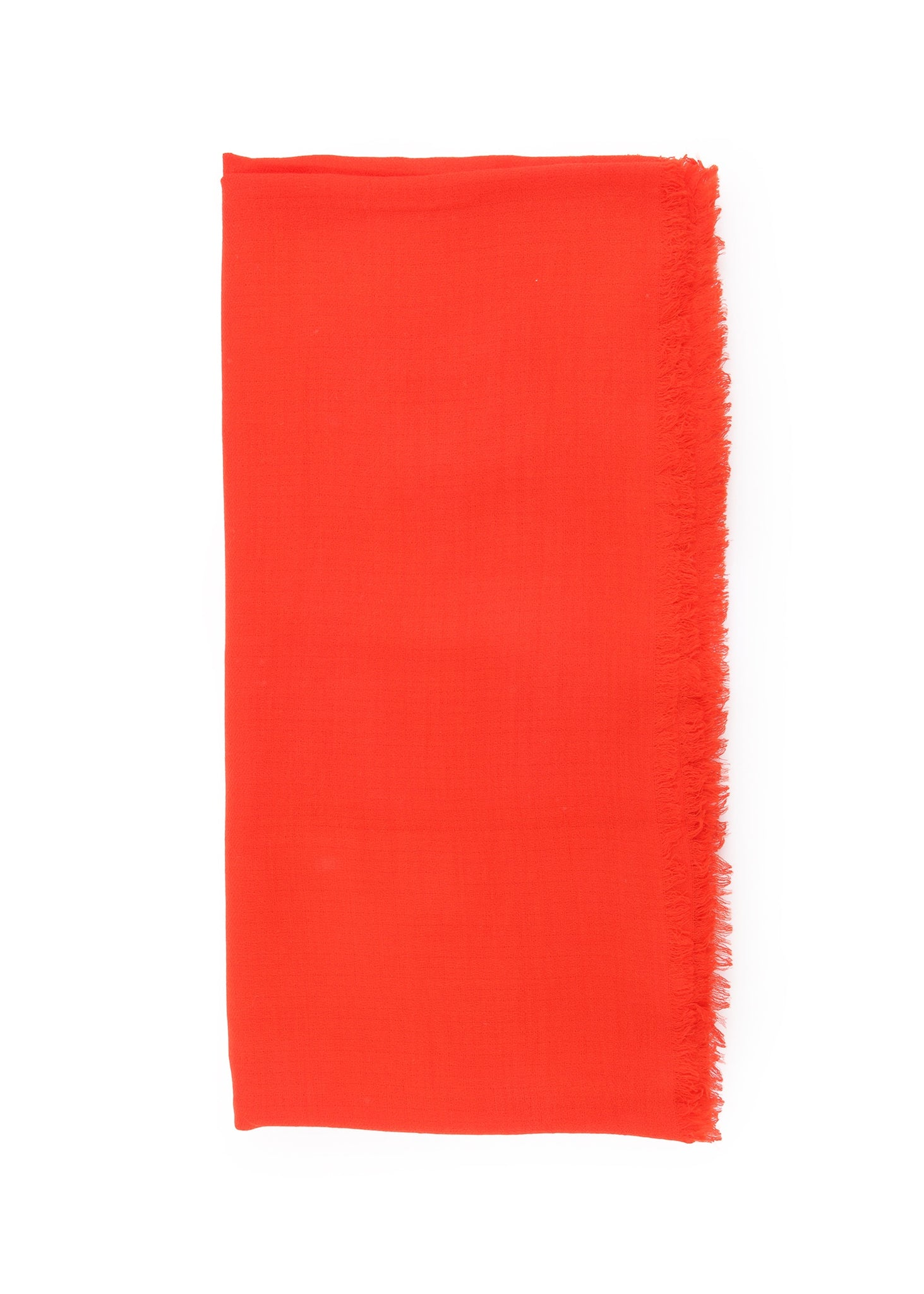 Foulard Léger en Cachemire Orange|Lightweight Cashmere Scarf in Orange