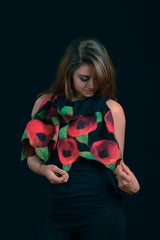 WEARABLE ART -  Red Poppies