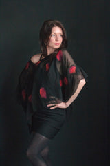 "Wearable art-""Summer evening"" Tunic/shawl"