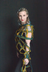 Wearable art -Abstract Shawl/scarf