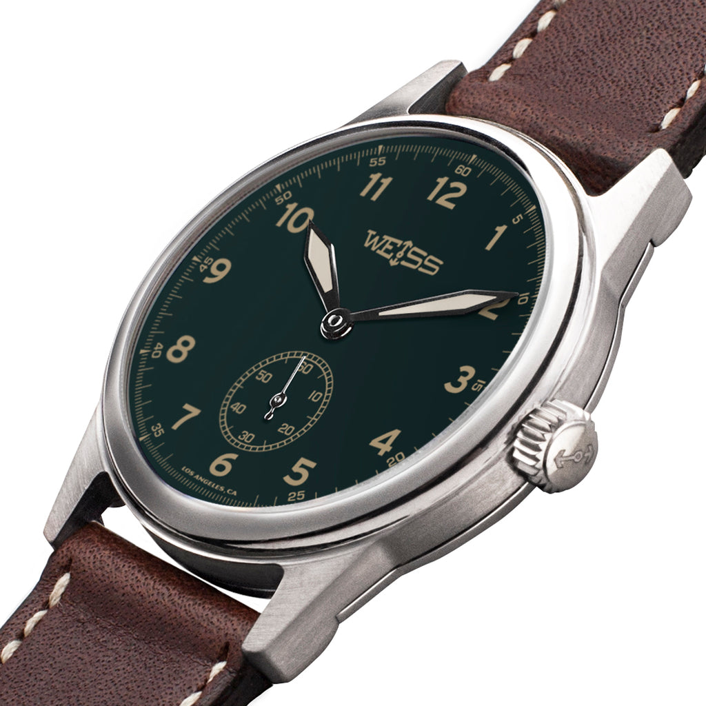 Weiss 38mm Standard Issue Field Watch | Green Dial