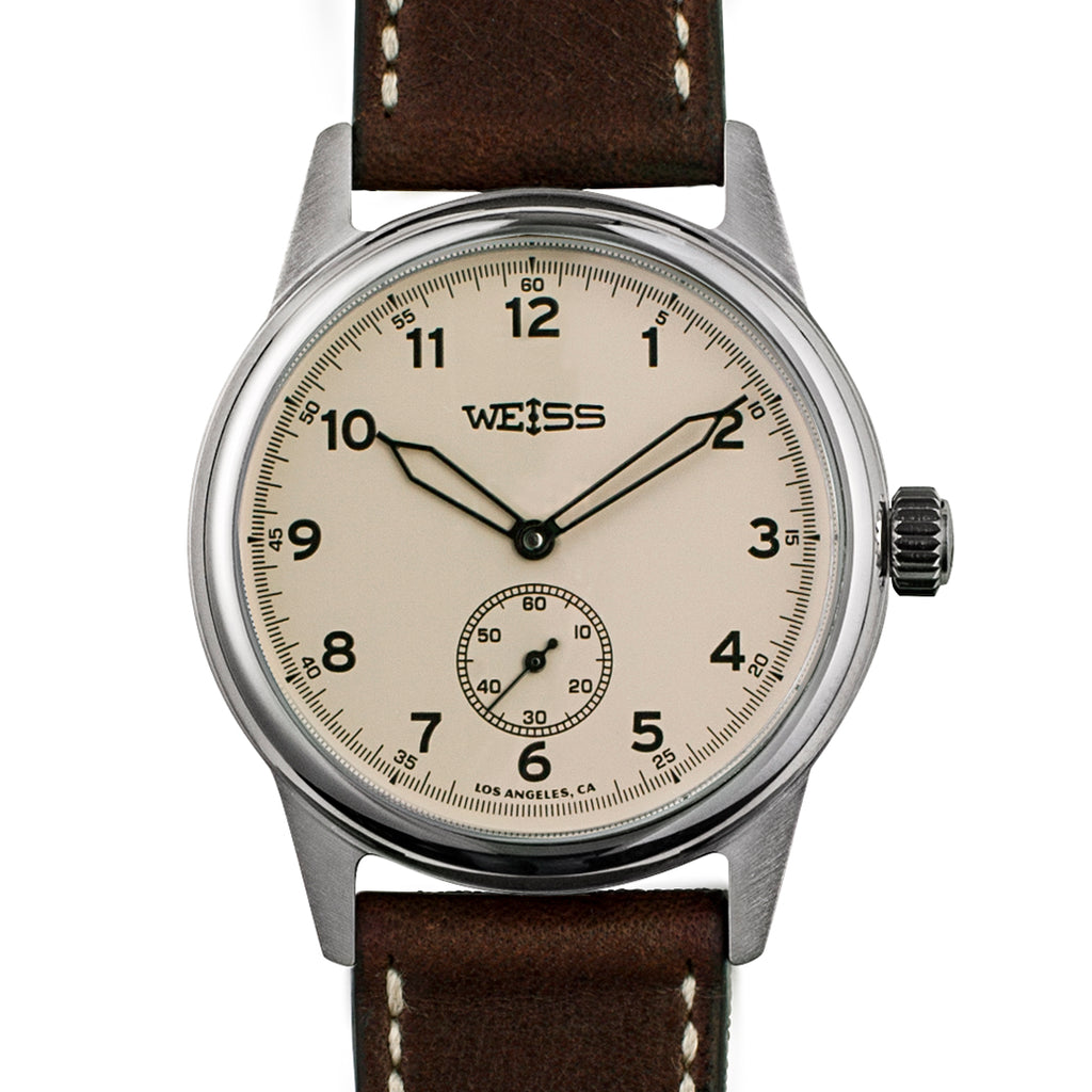 Weiss 38mm Standard Issue Field Watch | Latte Dial