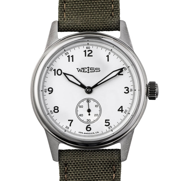 Weiss 38mm Standard Issue Field Watch White Dial On