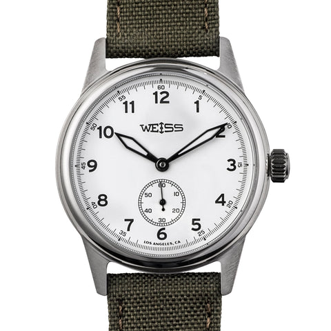 Weiss 38mm Standard Issue Field Watch | White Dial