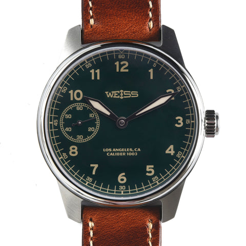Weiss 42mm American Issue Field Watch | Green Dial with CAL 1003