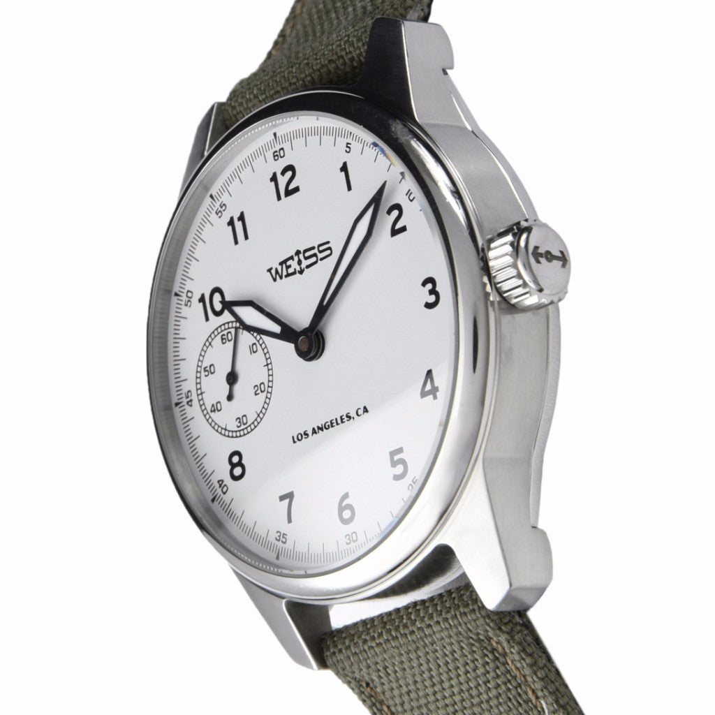 Weiss Standard Issue Field Watch White Dial