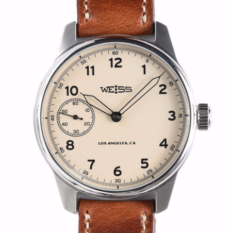 Weiss 42mm Standard Issue Field Watch | Latte Dial