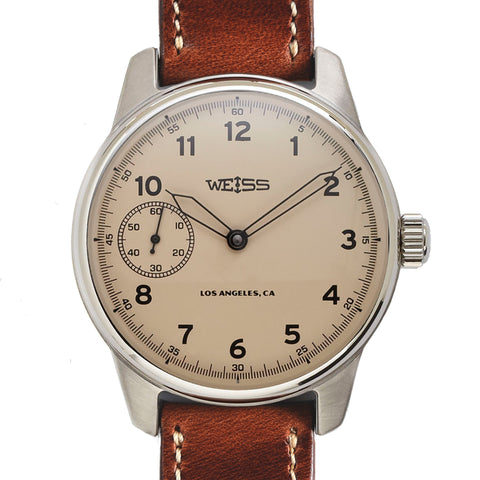 Weiss 42mm American Issue Field Watch | Latte Dial with CAL 1003