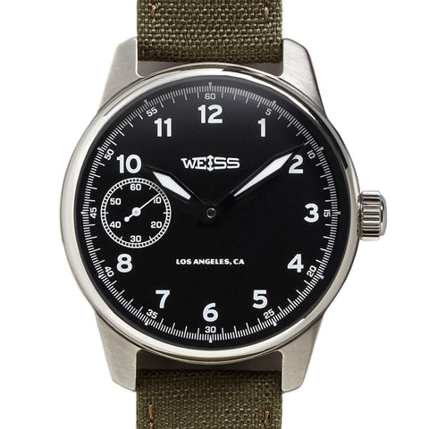 Weiss 42mm American Issue Field Watch | Black Dial with CAL 1003
