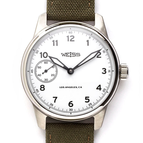 Weiss 42mm American Issue Field Watch | White Dial with CAL 1003
