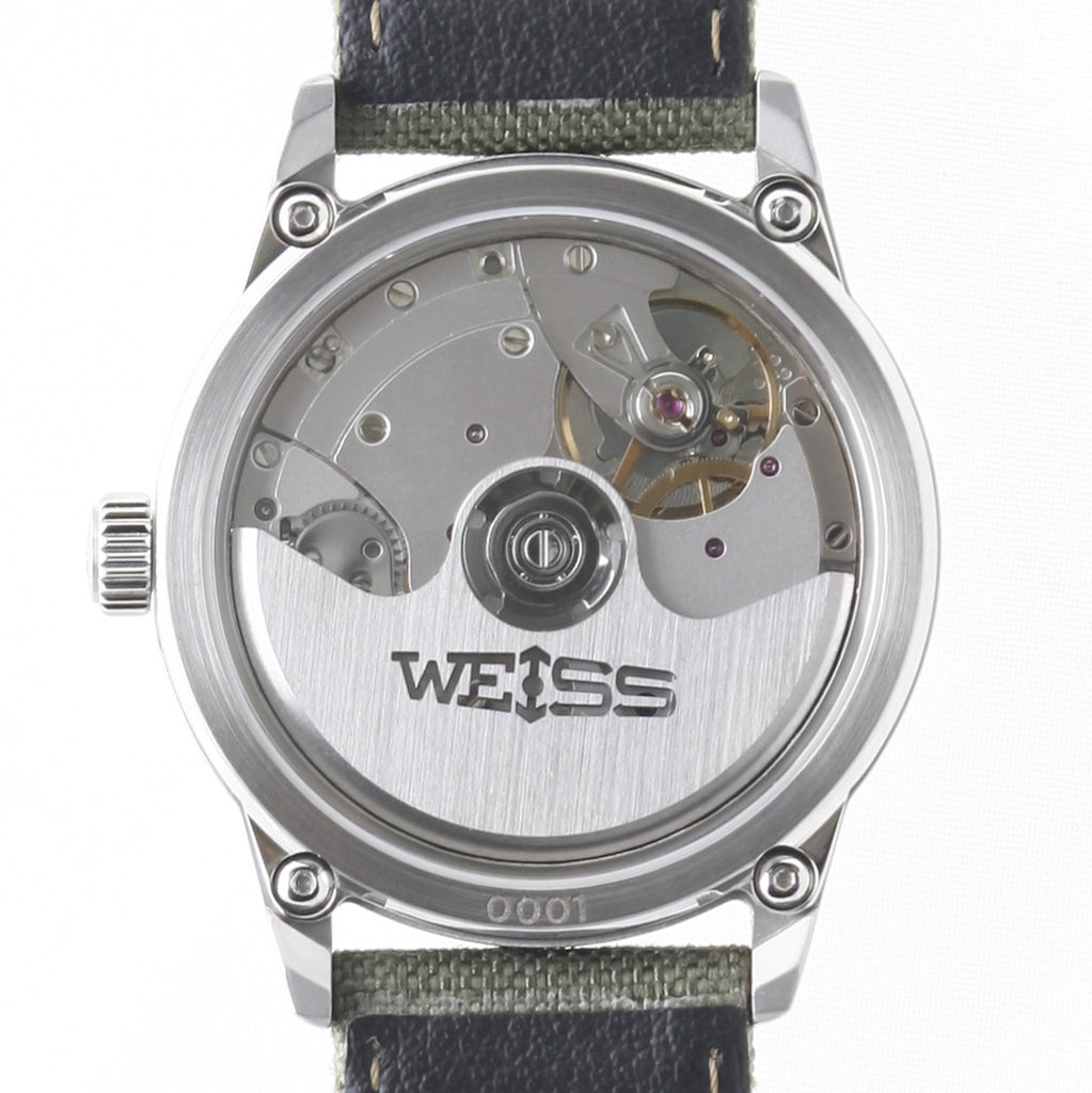 Weiss 38mm Automatic Issue Field <br> Watch White Dial