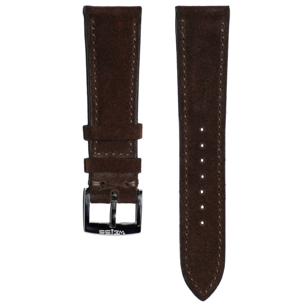 Dark Brown Suede Strap