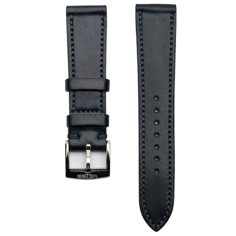 Navy Genuine Horween Shell Cordovan Strap