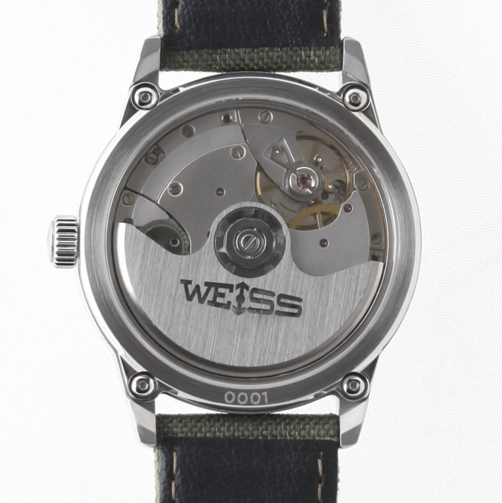 Weiss 38mm Automatic Issue Field Watch | Black Dial