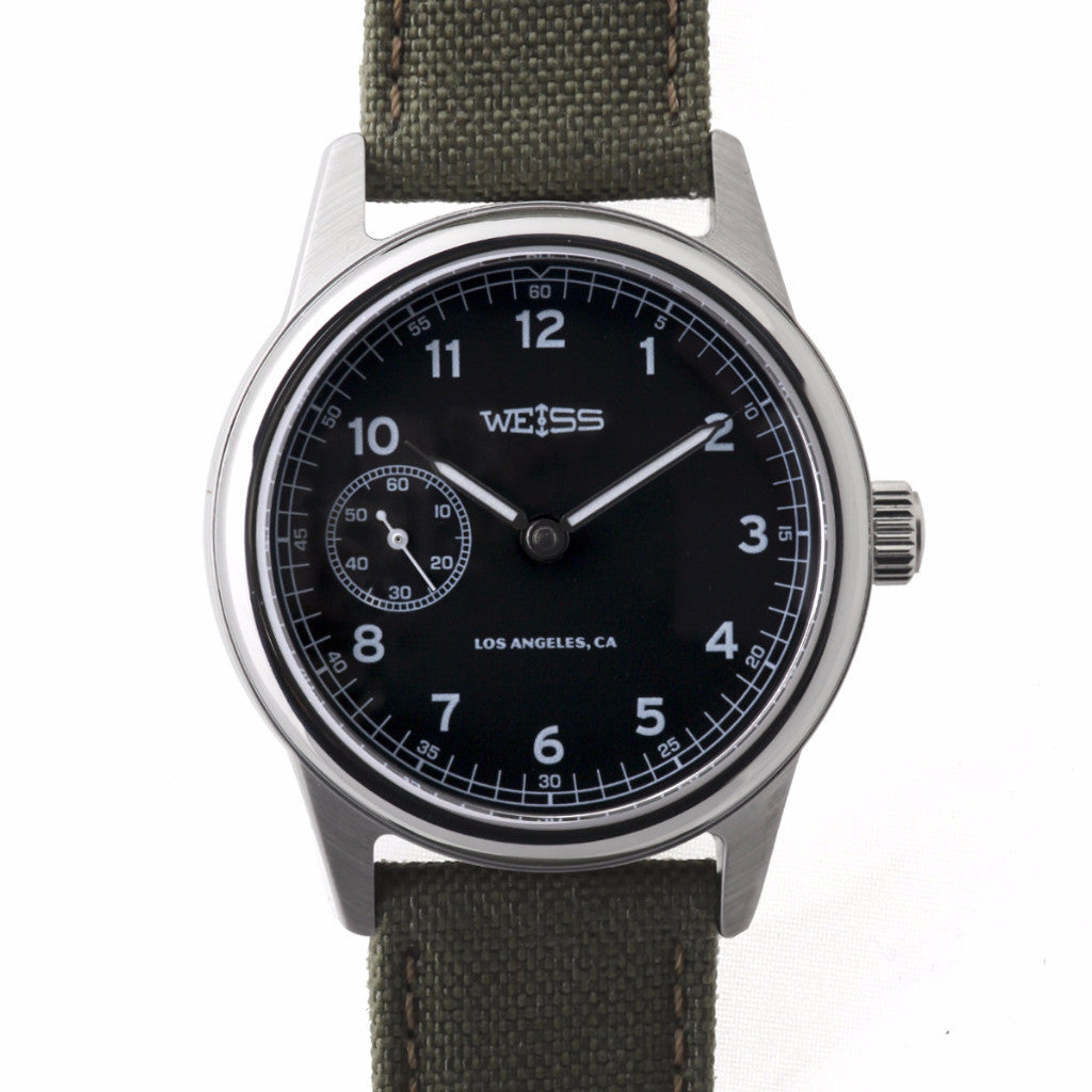Weiss 38mm Automatic Issue Field <br> Watch Black Dial