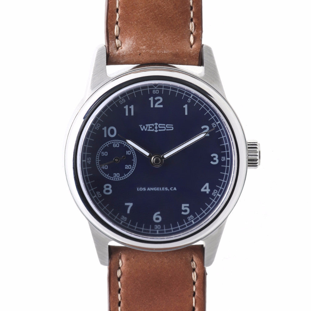 Weiss 38mm Automatic Issue Field <br> Watch Blue Dial