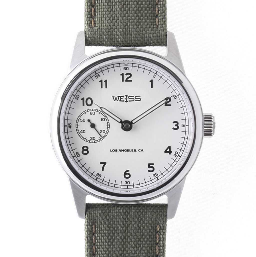 Weiss 38mm Automatic Issue Field Watch | White Dial