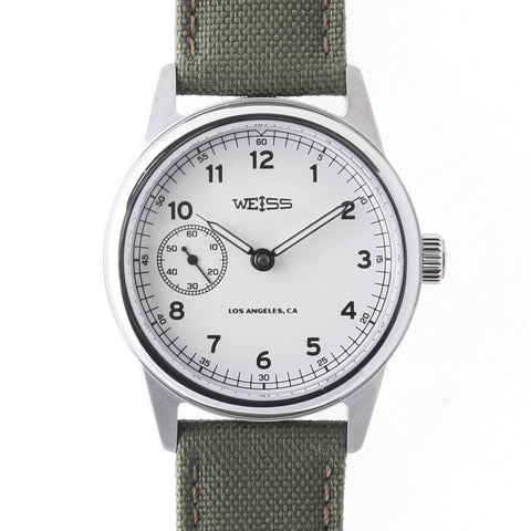 Weiss Automatic Issue Field <br> Watch White Dial