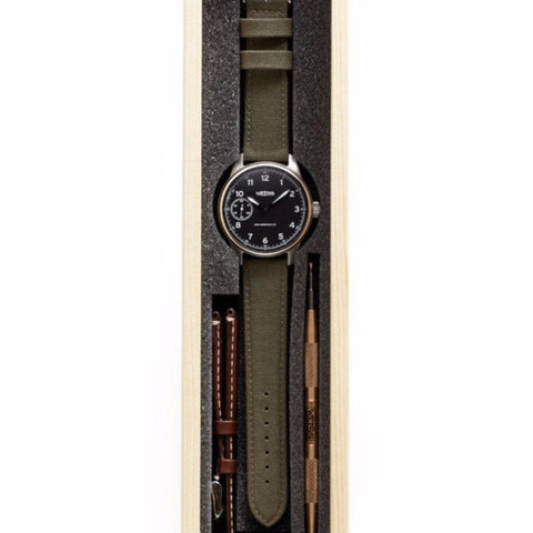 Weiss Standard Issue Field Watch Set Black Dial