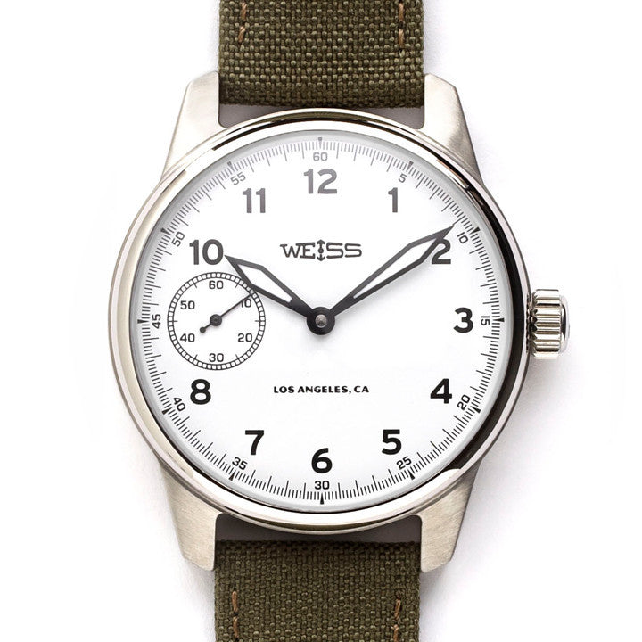 Weiss Standard Issue Field Watch Set White Dial