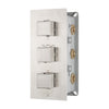 BAI 0125 Concealed Thermostatic Shower Mixer Valve in Brushed Nickel Finish