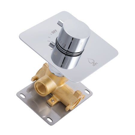 BAI 0136 Concealed 1 Function ON/OFF Shower Valve in Polished Chrome Finish