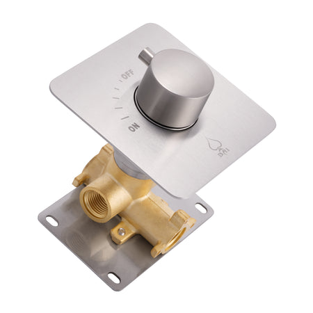 BAI 0137 Concealed 1 Function ON/OFF Shower Valve in Brushed Nickel Finish